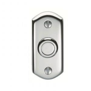 Shaped Bell Push - Polished Chrome