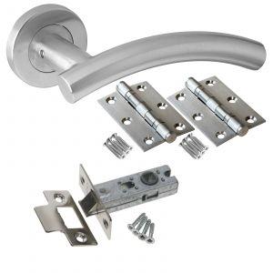 Arched T-Bar Door Handle Set - LATCH DOOR PACK