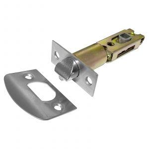 Adjustable Tubular Latch 60mm - 70mm Backset - Satin Stainless Steel