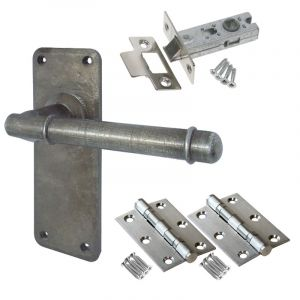 Belfry Door Handle Set - Latch Door Pack - Pewter