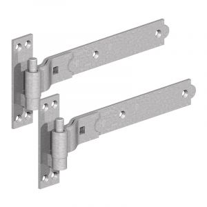 1056 Cranked Hook and Band Hinges - Galvanised