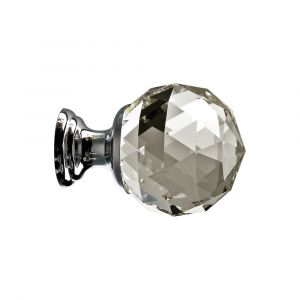 Faceted Crystal Cupboard Knob