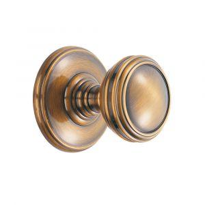 Fingertip Delamain Plain Knob - Florentine Bronze