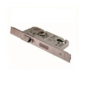 Din Euro Escape Lock 60mm - (72mm C/C) Satin Stainless Steel