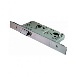 Din Euro Anti - Thrust Nightlatch 60mm - (72mm C/C) Satin Stainless Steel