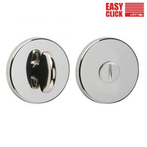 Easy Click Bathroom Turn and Release - Polished Nickel