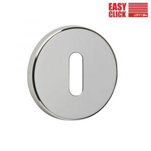 Easy Click Keyhole Escutcheons - Standard - Polished Nickel