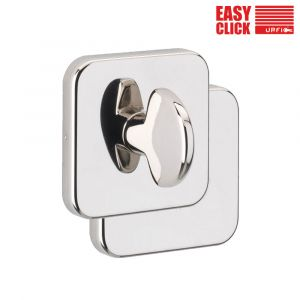 Easy Click Square Bathroom Turn and Release - Polished Nickel