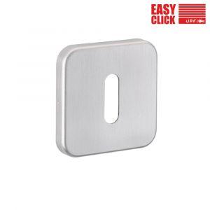Easy Click Square Keyhole Escutcheons - Standard - Satin Nickel