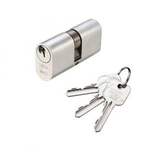 Oval Profile 5 Pin Double Cylinder Lock - Satin Chrome