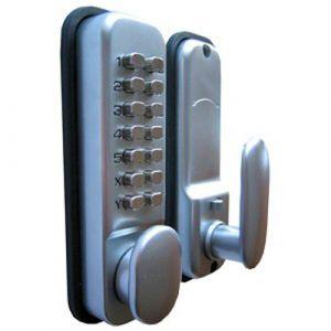 Digital Push Button Code Lock - Satin Chrome