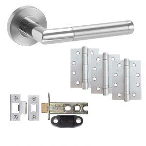 """Exus Fire Rated Door Handle Set With 4"""" Hinges - Door Packs - Latch"""