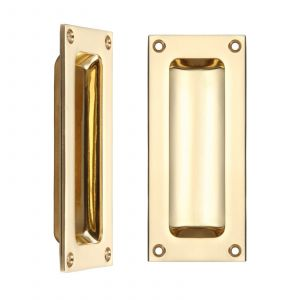 Fulton and Bray Flush Pull - Polished Brass