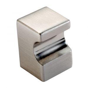 Fingertip Square Knob - Satin Nickel