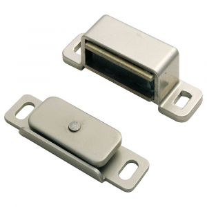 Fingertip Steel Magnetic Catch - Plated Nickel
