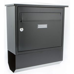 Itchen G2 Front Opening Post Box - Black