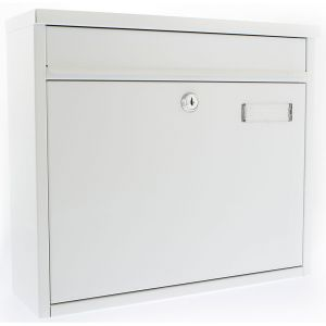 Ouse G2 Front Opening Post Box - White