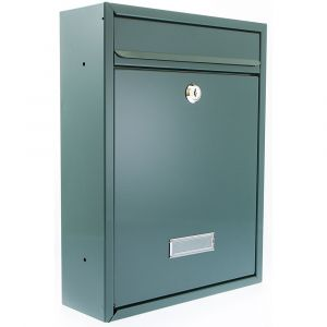 Trent G2 Front Opening Post Box - Green