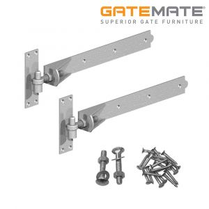 Gatemate Adjustable Hook And Band Hinges - Galvanised