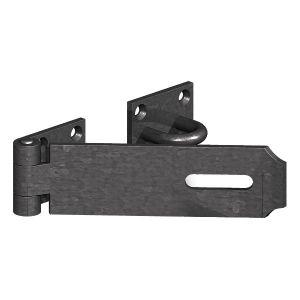 618 Heavy Safety Hasp & Staple - Epoxy Black