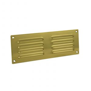 Hooded Louvre Vent - Polished Brass
