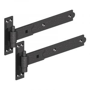1055 Hook and Band Gate Hinges - Epoxy Black
