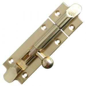 Straight Bell Bolt - Polished Brass