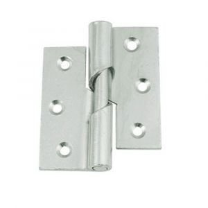3 Inch Steel Rising Butt Hinge - Left Hand - Zinc Plated