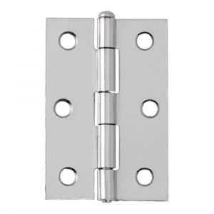 3 Inch Steel Loose Pin Hinges - Polished Chrome
