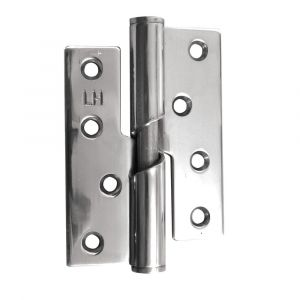 4 Inch Stainless Steel Rising Butt Hinge - Left Hand - Polished Stainless