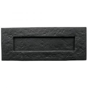 Traditional Plain Letterplate - Black Antique