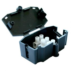 3 Terminal Connector Box - Black