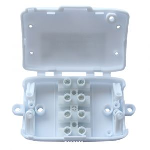 4 Way 10A Junction Connection Box - White