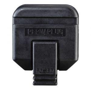 13 Amp Rubber Plug - Black Rubber