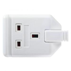 13 Amp Trailing Socket - White Rubber