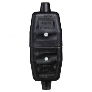 10A 3 Pin Flex Connector - Black Rubber
