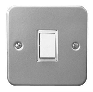 1 Gang 2 Way Switch - Metal Clad Grey