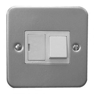 13A Fused Switched Spur - Metal Clad Grey