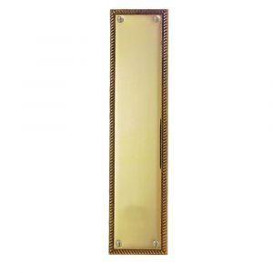 Georgian Fingerplate - Polished Brass