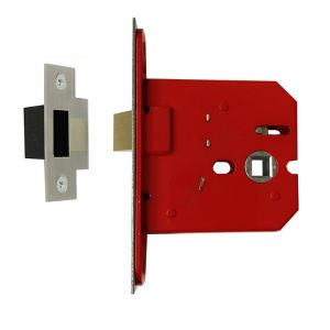 Architectural Medium Full Case Mortice Latch 63mm - Satin Stainless Steel