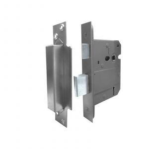 British Standard 5 Lever Sash Lock - 67mm - Satin Stainless Steel