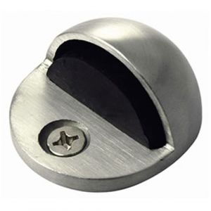 Oval Shielded Door Stop - Polished Stainless Steel