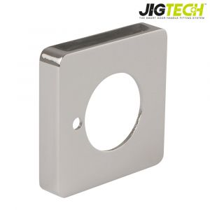 Jigtech Door Handle Square Rose Covers - Polished Chrome