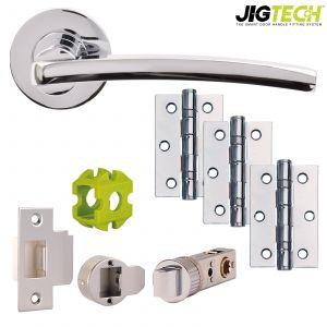 Jigtech Condor Door Packs - Latch - Polished Chrome