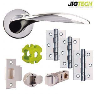 Jigtech Cresta Door Packs - Passage - Polished Chrome