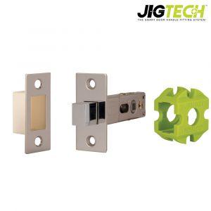Jigtech Rectangular Bathroom Bolt - Polished Chrome
