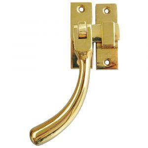 Bulb End Window Handle Fastener 100mm - Polished Brass