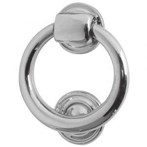Ring Shaped Door Knocker 105mm - Polished Chrome
