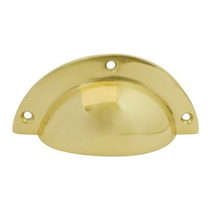 Cup Drawer Pull - Polished Brass