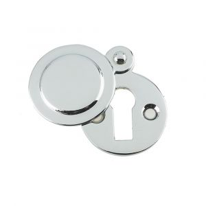 Covered Keyhole Cover 32mm - Polished Chrome